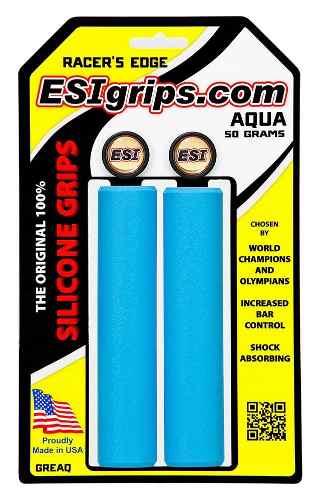 Manoplas Mtb Esi Grips Racers Edge 30mm Azul Claro 50 Gramas