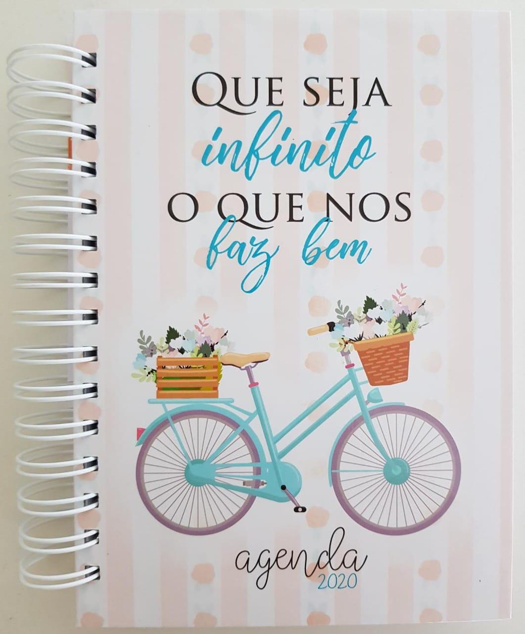 Agenda Bicicleta 2020 Espiral Capa Dura 360 folhas - Bike