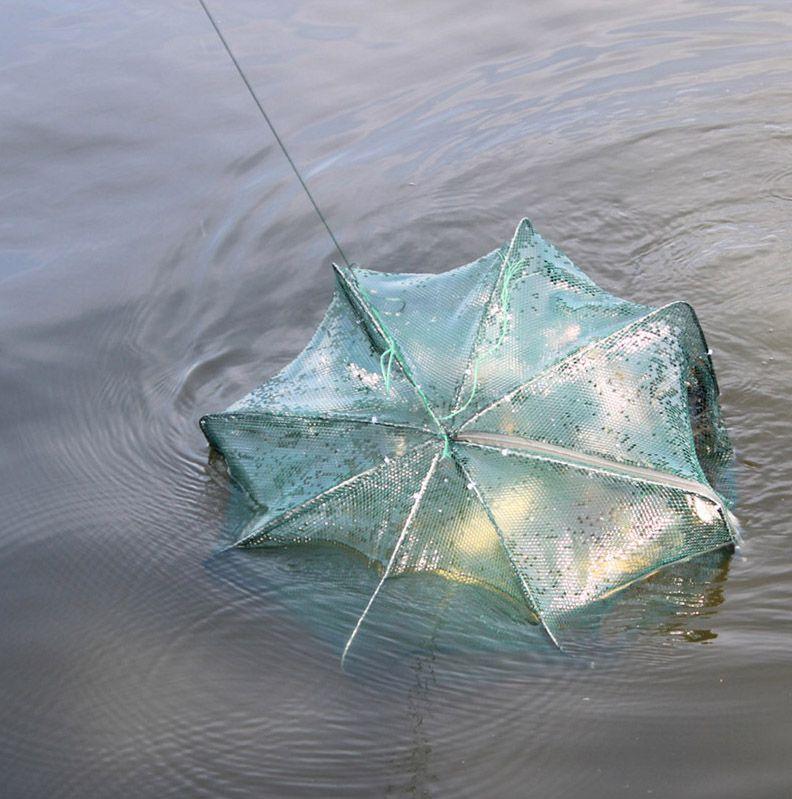 Armadilha Covo JWS para Pesca Peixes Camarões Iscas Vivas com 8 compartimentos Fácil Montagem