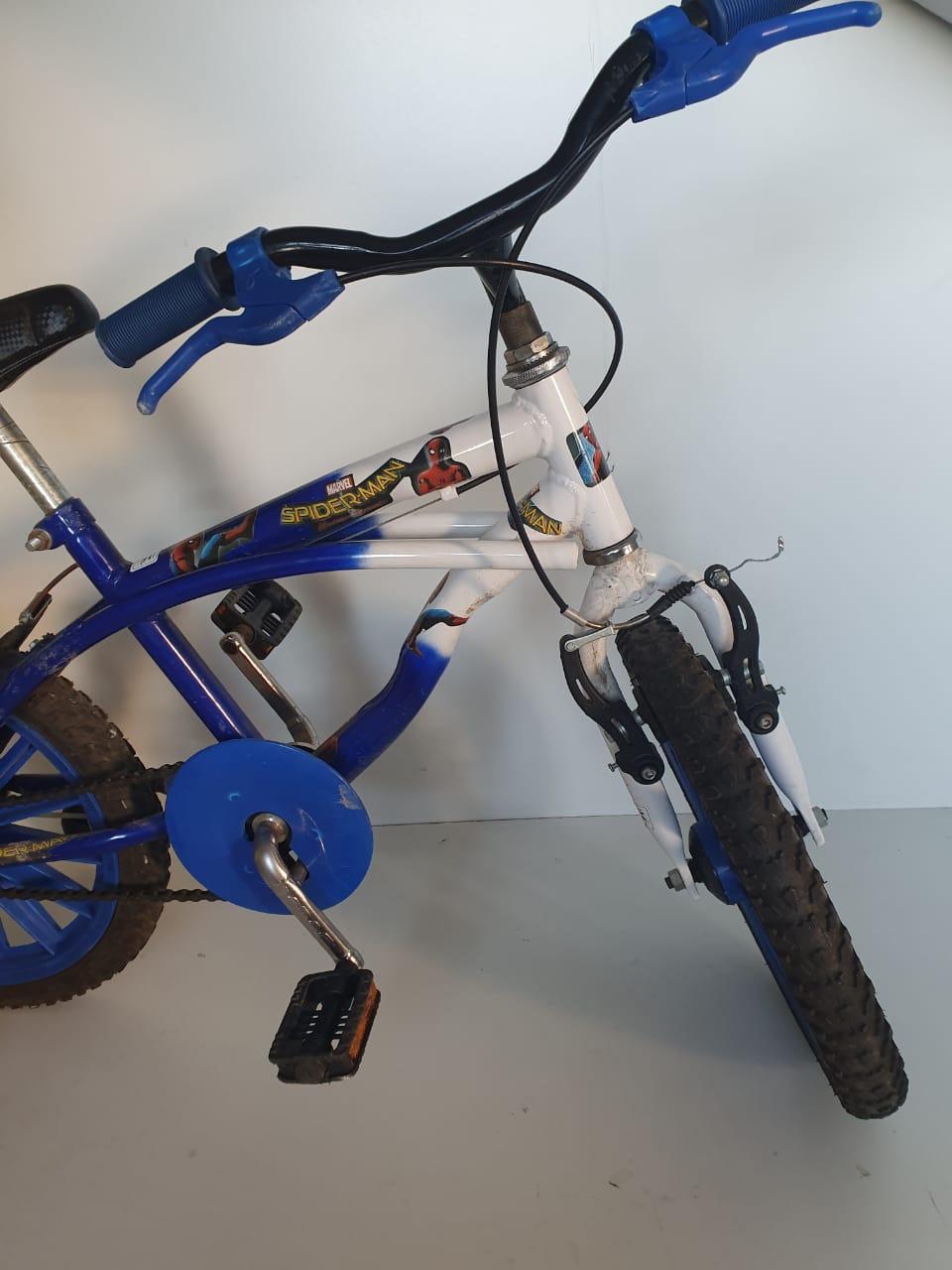 Bicicleta Infantil Caiçara Bike Aro 16 Homem Aranha - Usada