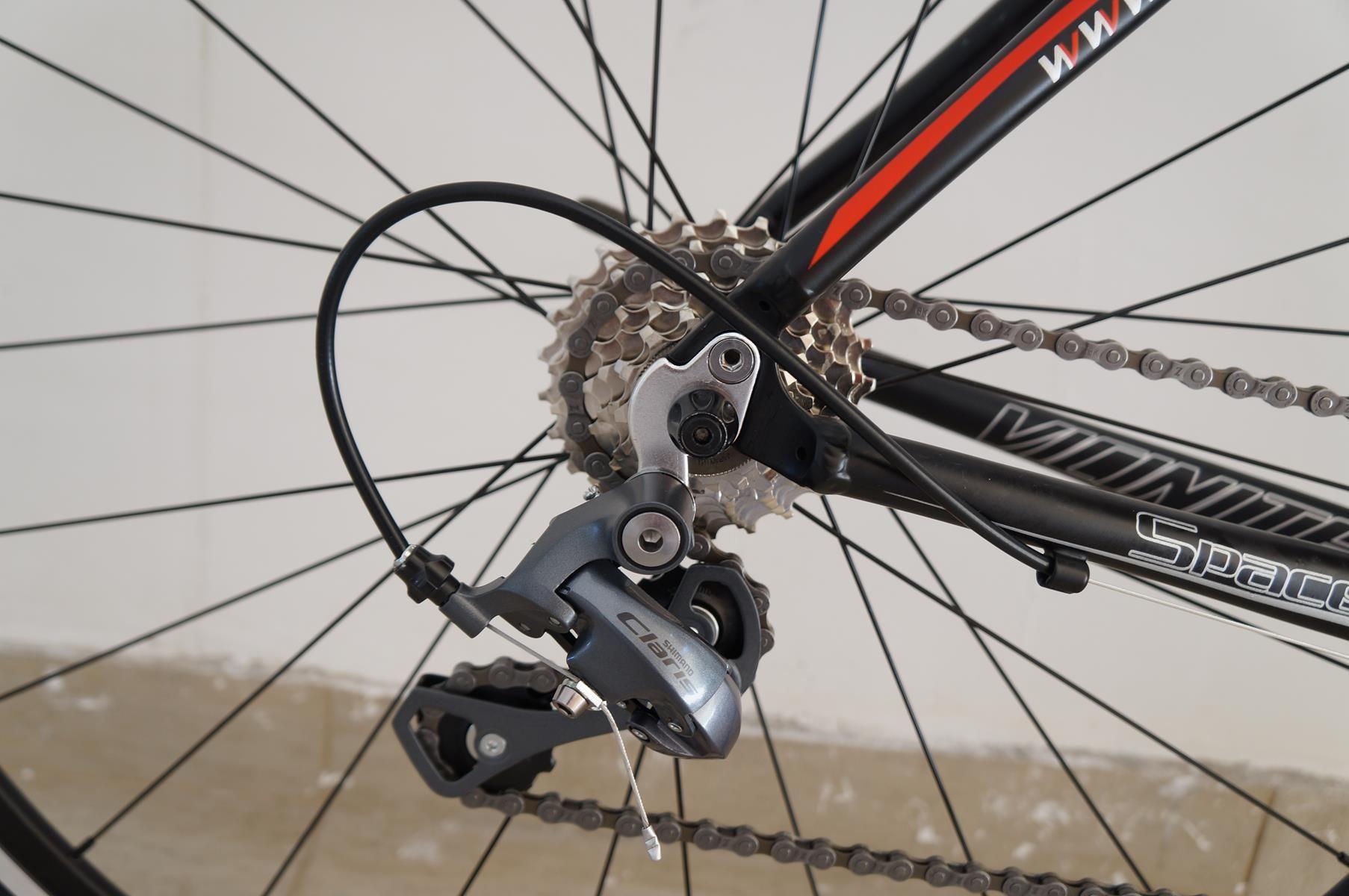 Bicicleta Speed Vicinitech Space II Pro Alumínio 2018 Preta Fosco com vermelho