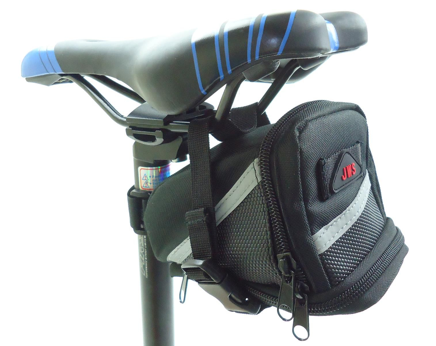 Bolsa de Banco Selim para Bicicleta JWS WS-288 Para Ferramentas e Acessórios Cor Preta