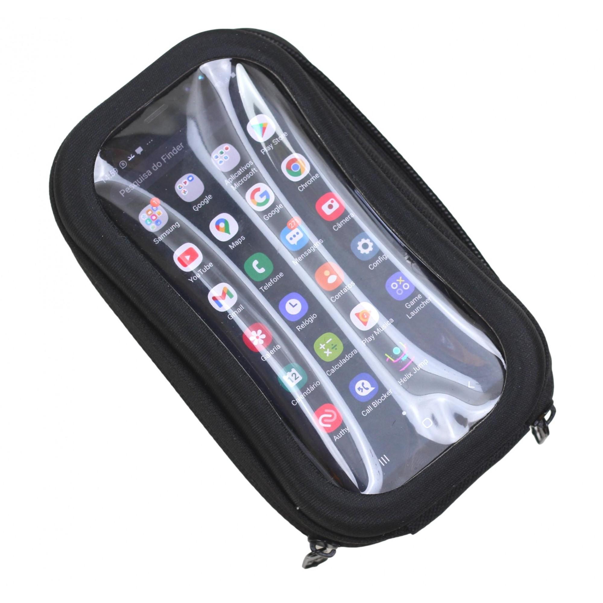 Bolsa Porta Celular Para Guidão de Bicicletas com Visor Serve Celular até 6 polegadas
