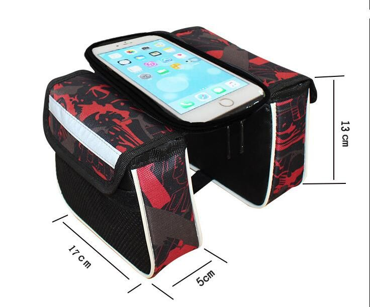 Bolsa Porta Celular Tipo Alforge Para Quadros Bicicletas Serve celulares até 6.3 polegadas