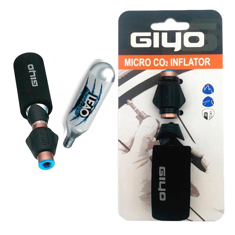 Bomba de Co2 Bicicletas Giyo para Cartuchos de Ar Co2 + Cilindro 16 gramas