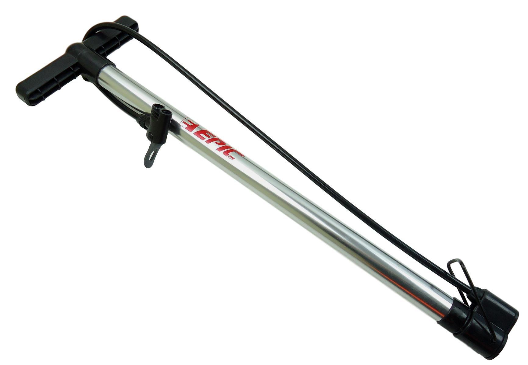 Bomba De Pé Para Bicicletas Epic Line EPA-C296 Em Aluminio 100psi Presta ou Schrader