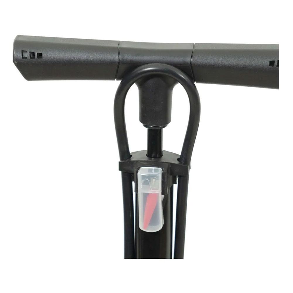 Bomba de Pé para bicicletas Rockbros RB-GP6532B Com Manômetro até 160psi Valvula Presta e Schrader