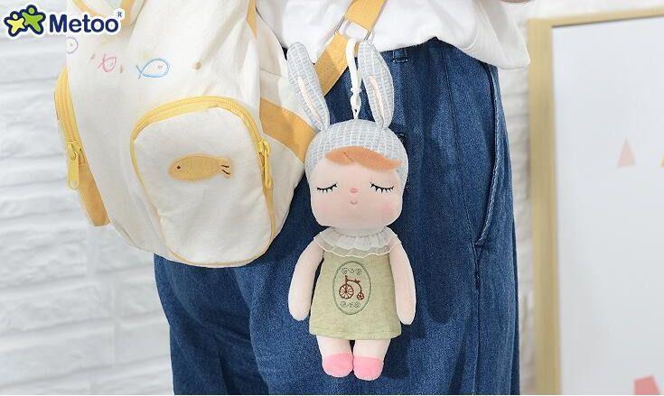 Boneca Chaveiro Angela Metoo Doll Naninha Bike 18cm Bebês Boneca De Pano