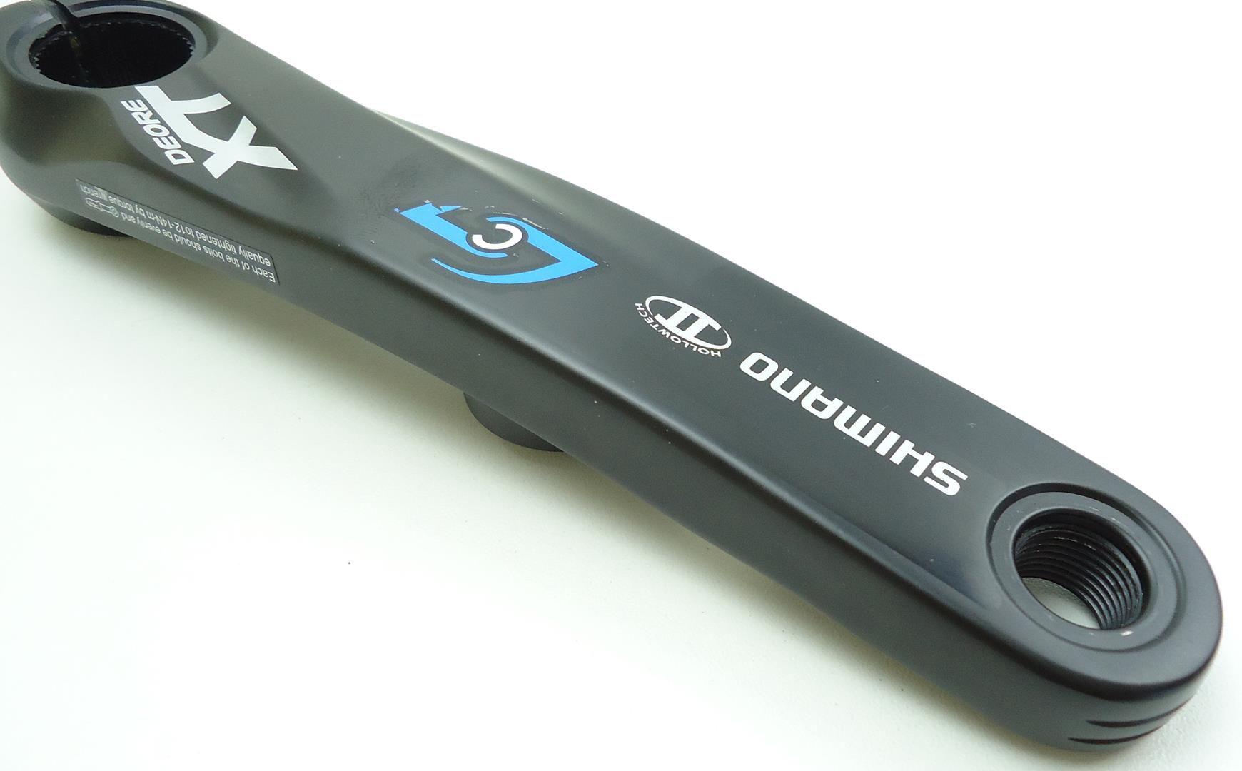 Braço Esquerdo Medidor de Potência Stages Shimano XT M785 175mm Powermeter 3ª Geração