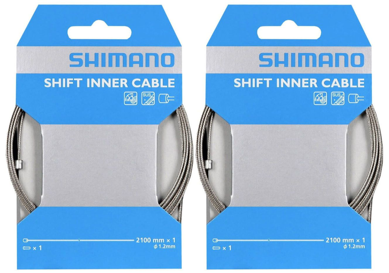 Cabo De Aço Shimano Câmbios De Marcha 2100mm - Kit Com 2 Un