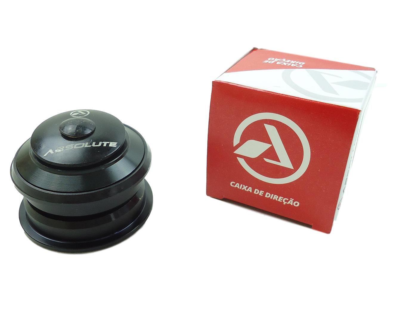 Caixa de Direção Absolute Megaover com Rolamentos Semi Integrada 44mm Para Quadros e Suspensões Espiga Reta