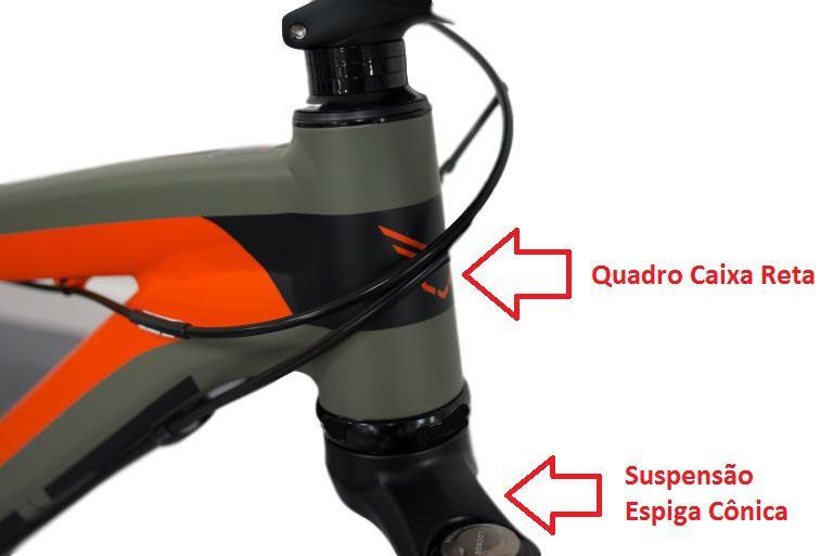 Caixa de Direção Absolute Tapered 44mm Com Rolamentos Para Uso Em Quadros Reto e Suspensão Cônica