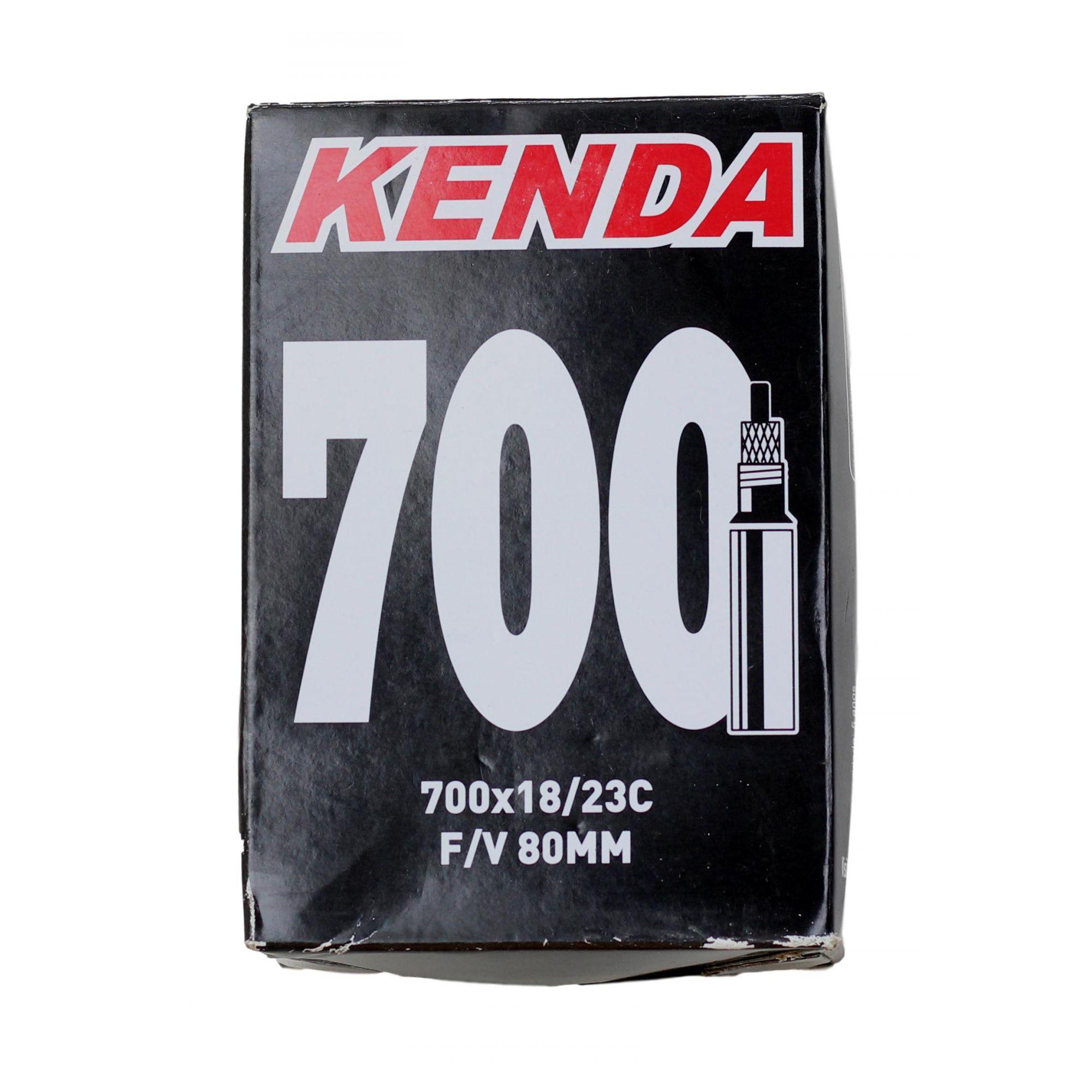 Câmara De Ar Bicicleta Speed Kenda Aro 700 x 18/23 Válvula Presta 80mm para Rodas de Perfil Alto