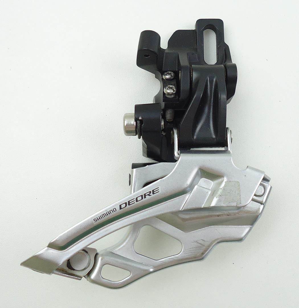 Cambio Dianteiro Shimano Deore Fd-m616 2x10 Direct Mount com 1 Parafuso Puxa por Cima - USADO