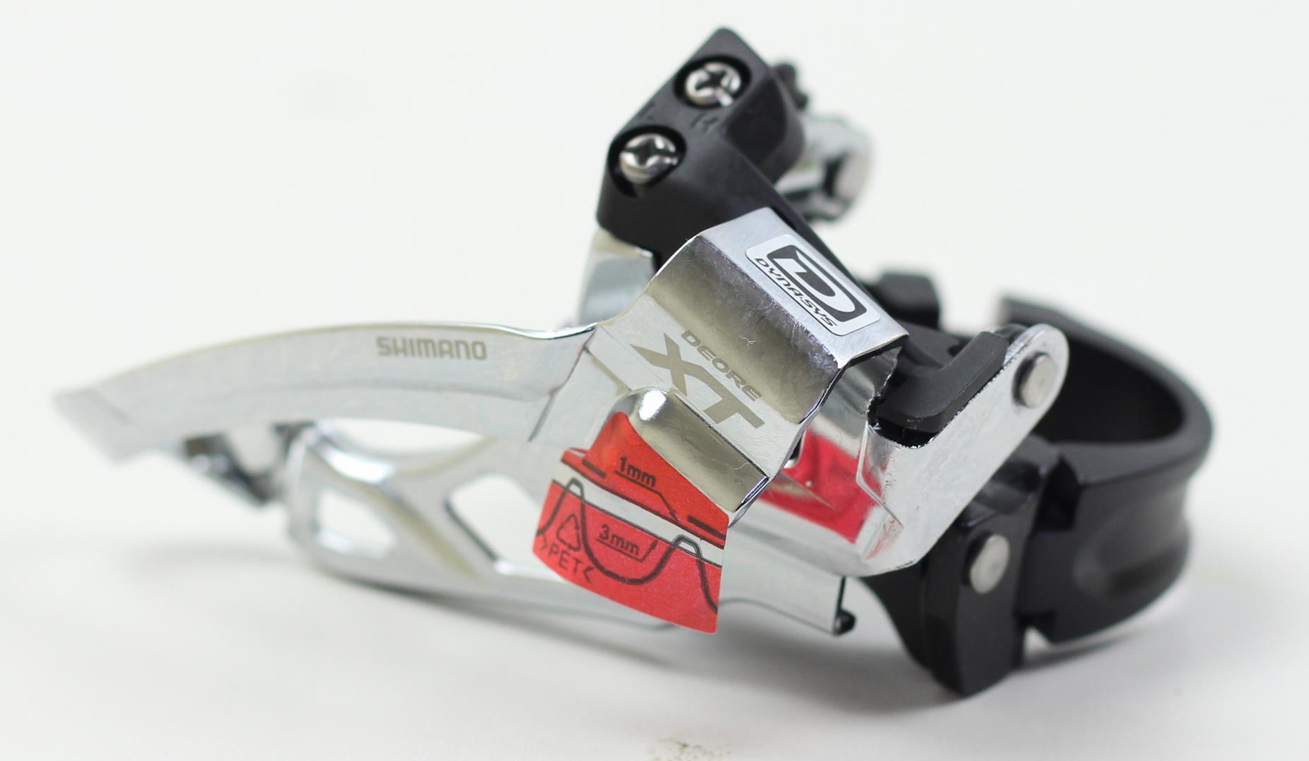 Cambio Dianteiro Shimano Deore XT M785 2x10 34.9 31.8mm 10 velocidades Dual Pull