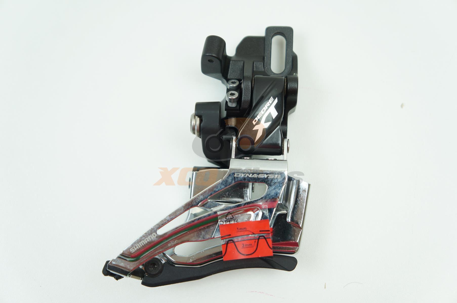 Cambio Dianteiro Shimano Deore XT M8025-D 2x11 Direct Mount Top Pull