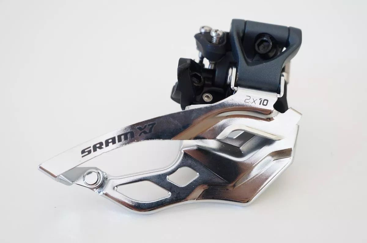Cambio Dianteiro Sram X7 2x10 31.8mm Dual Pull Abraçad. Alta