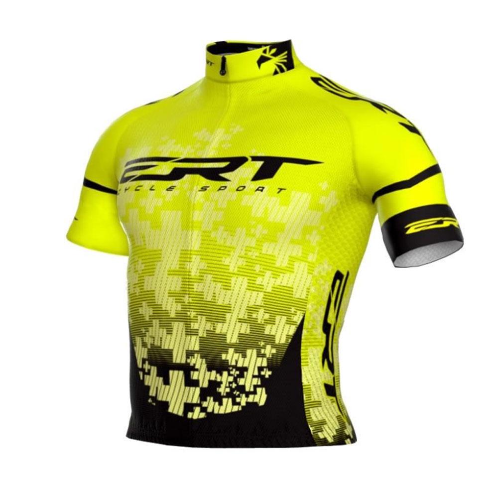 Camisa de Ciclismo Bike ERT Elite Team Amarelo com Preto - Vários Tamanhos
