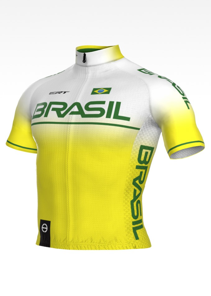 Camisa de Ciclismo Bike ERT New Elite Cores do Brasil - Vários Tamanhos