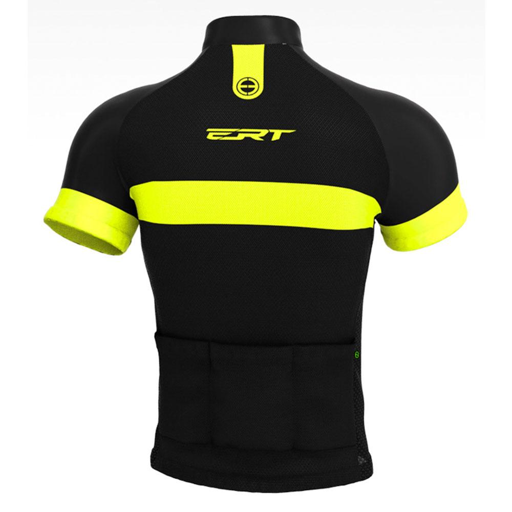 Camisa de Ciclismo Bike ERT Nova Tour Strip Black cor Preto - Vários Tamanhos