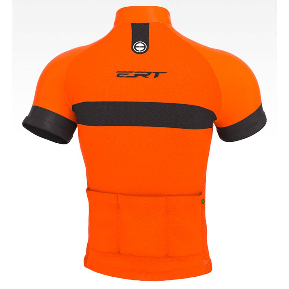 Camisa de Ciclismo Bike ERT Nova Tour Strip Orange cor Laranja - Vários Tamanhos