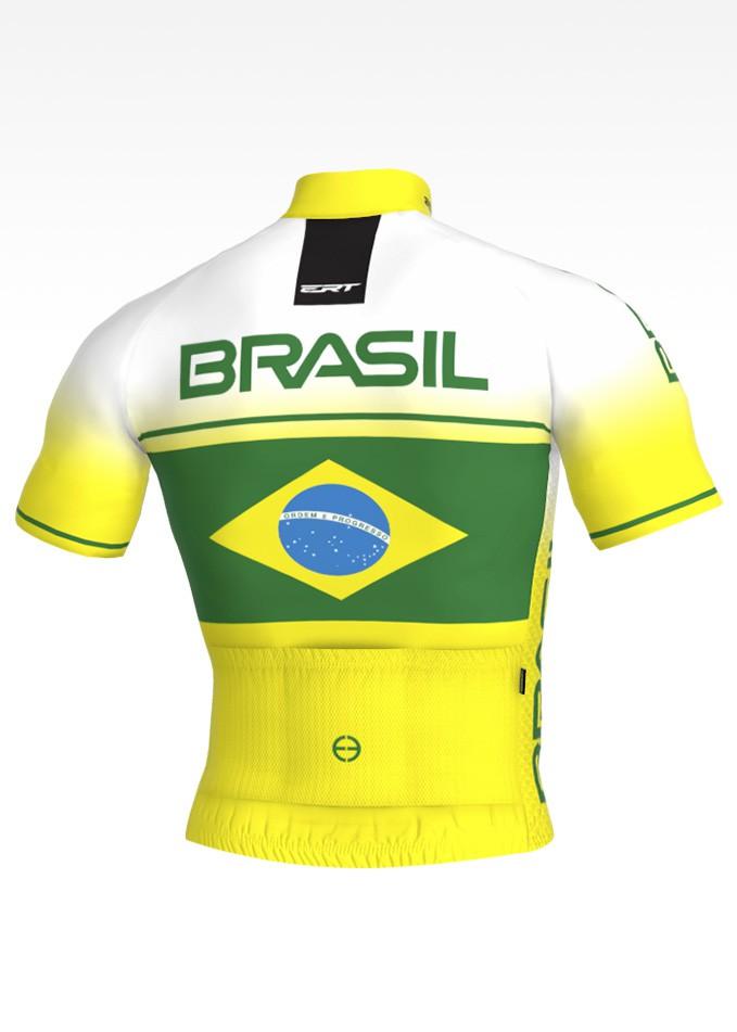 Camisa de Ciclismo Bike ERT New Elite Cores do Brasil - Tamanho G