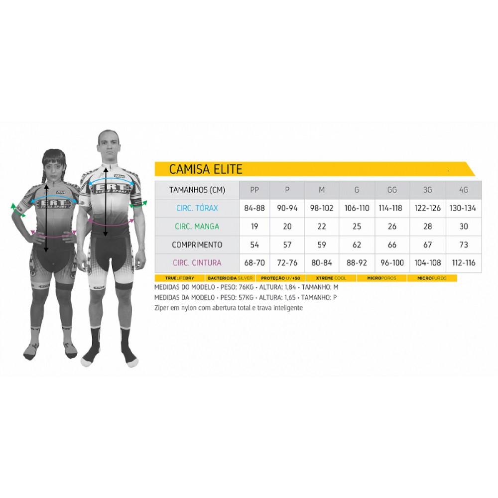 Camisa de Ciclismo ERT New Elite Racing Cor Amarela e Preta - Vários Tamanhos