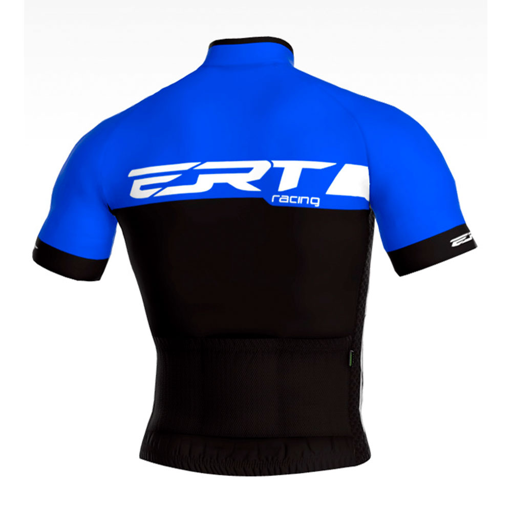 Camisa de Ciclismo ERT New Elite Racing Cor Azul e Preta - Vários Tamanhos