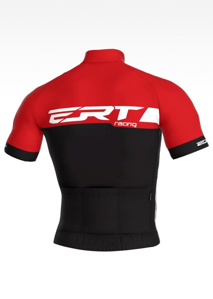 Camisa de Ciclismo ERT New Elite Racing Cor Vermelha e Preta - Vários Tamanhos
