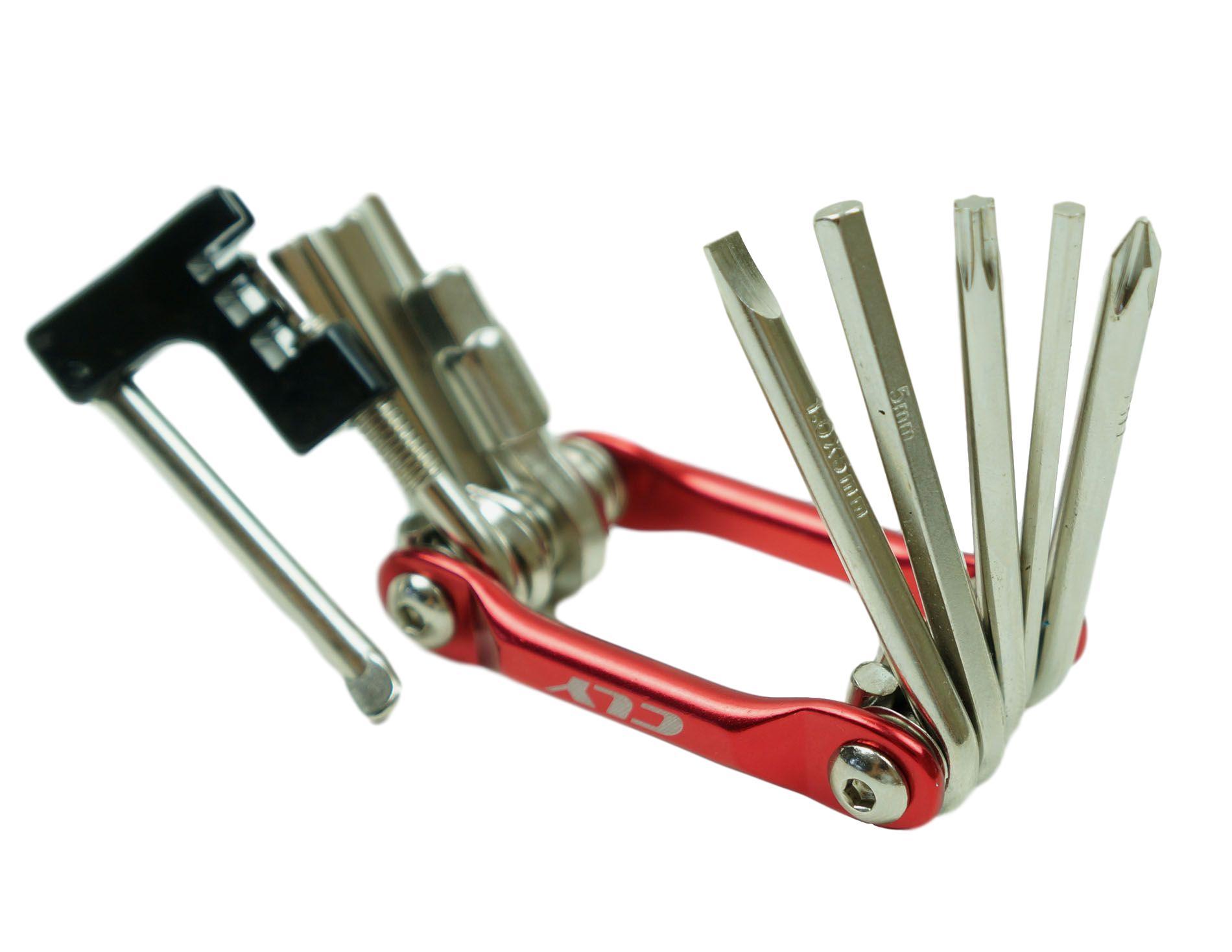 Canivete Multi-função CLY 11 Funções Com Extrator Pino de Corrente