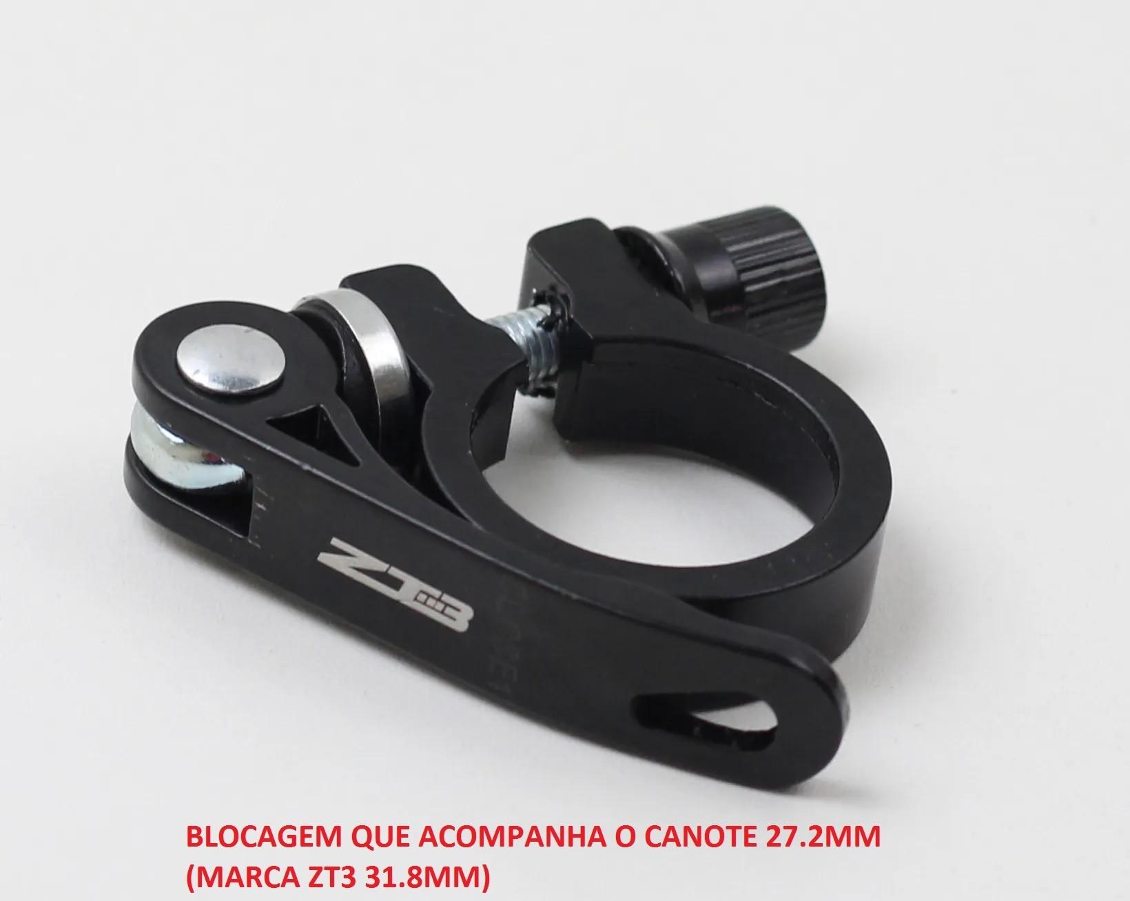 Canote Bicicleta Absolute Alumínio 27.2 ou 31.6mm x 350mm Preto Com Carrinho + Blocagem