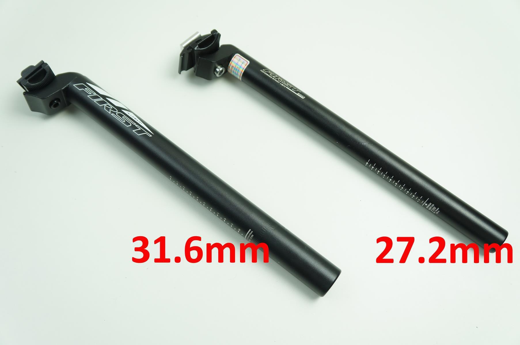 Canote Bicicleta First Alumínio 27.2 ou 31.6mm com 350mm Preto Com Carrinho + Blocagem