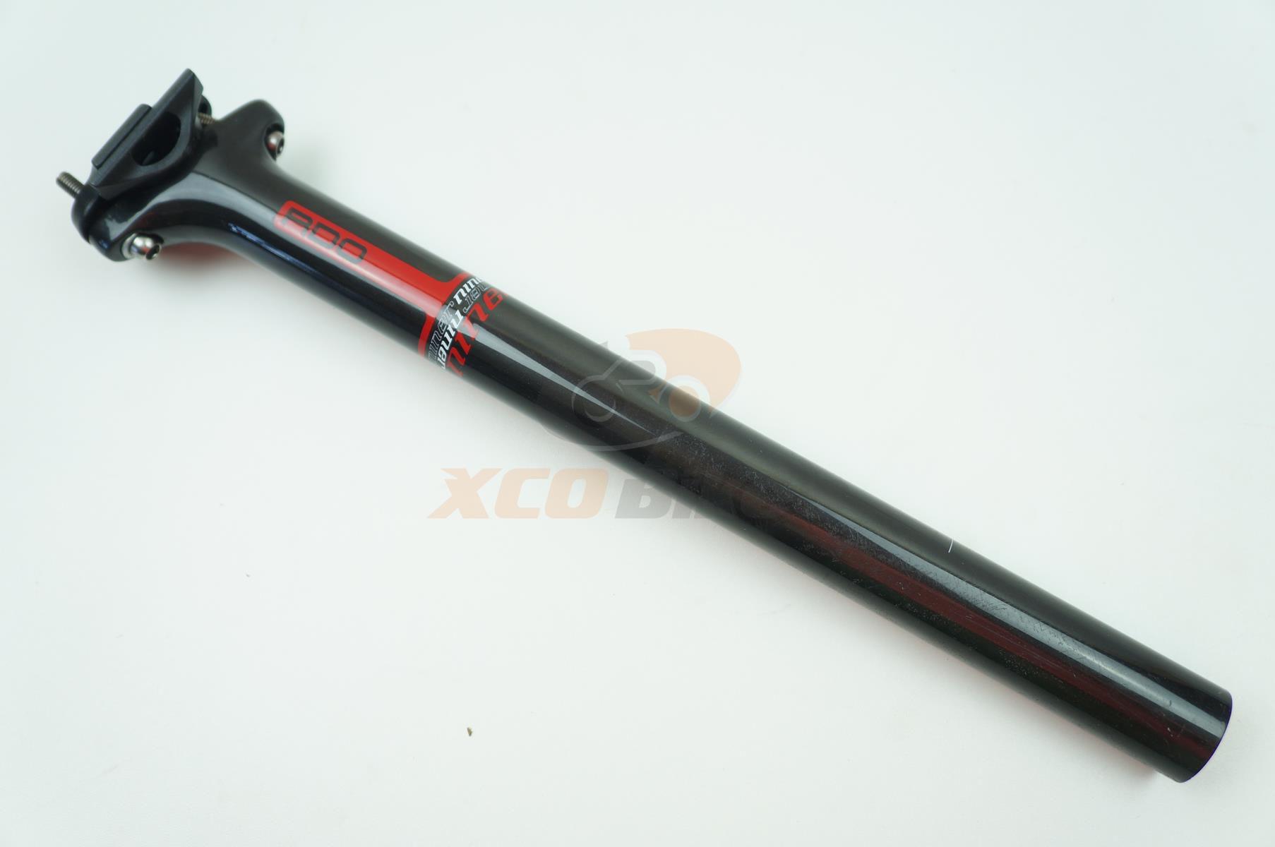 Canote de Selim Niner RDO em Carbono 30.9 x 370mm Preto com Microajuste - USADO