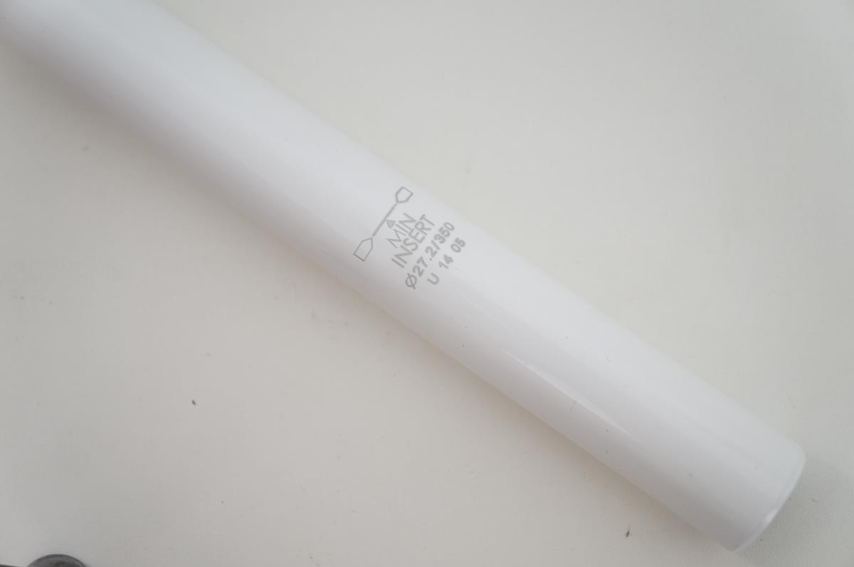 Canote de Selim Uno em Alumínio 27.2 x 350mm Branco com Setback
