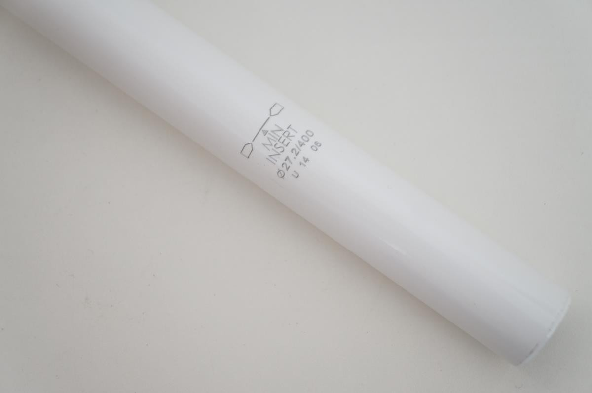 Canote de Selim Uno em Alumínio 27.2 x 400mm Branco com Microajuste