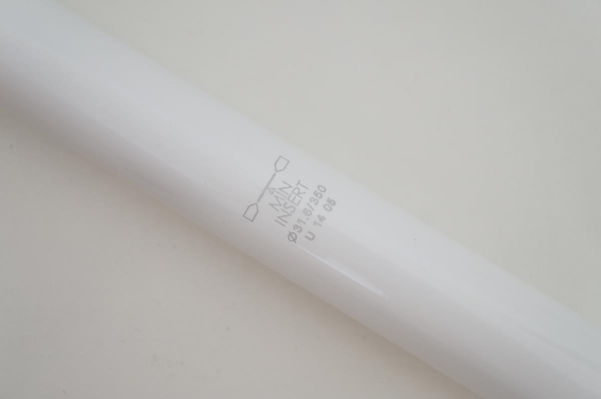 Canote de Selim Uno em Alumínio 31.6 x 350mm Branco com Setback