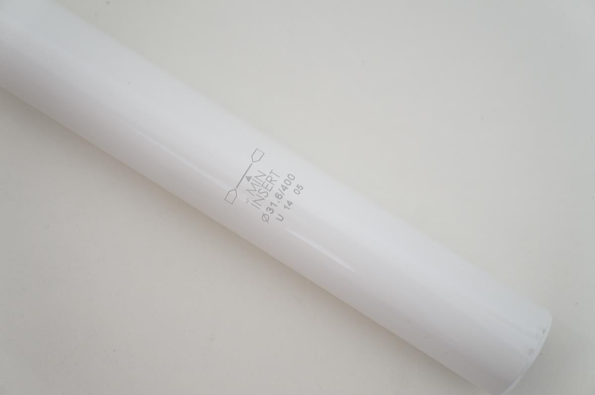 Canote de Selim Uno em Alumínio 31.6 x 400mm Branco com Microajuste