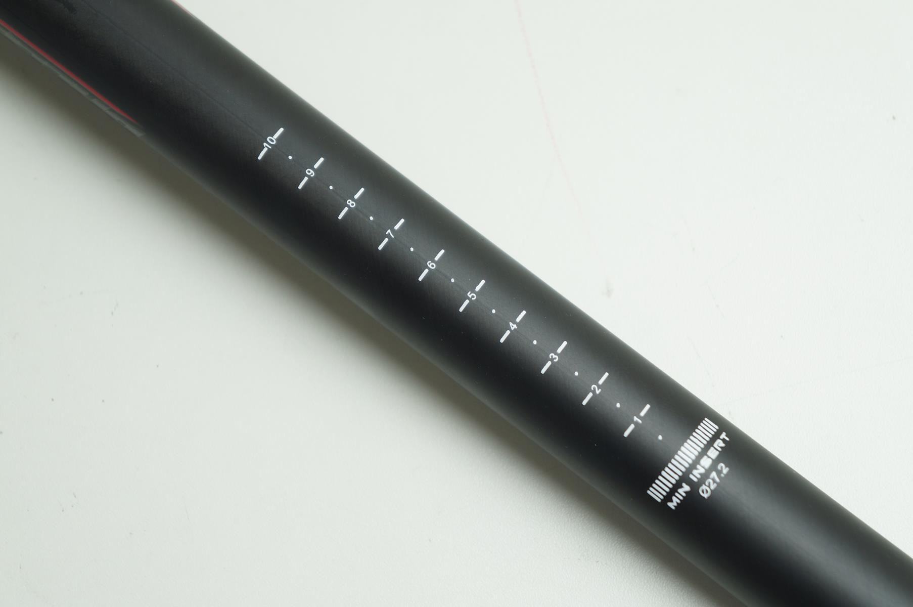 Canote de Selim Vicinitech em Carbono 27.2 x 400mm Preto com Microajuste
