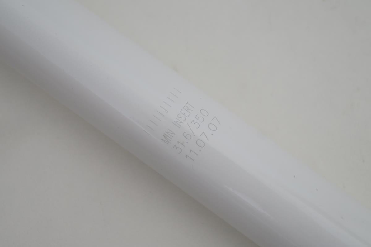 Canote Mtb Oval Concepts 200 31.6mm 350mm Aluminio Branco com Azul