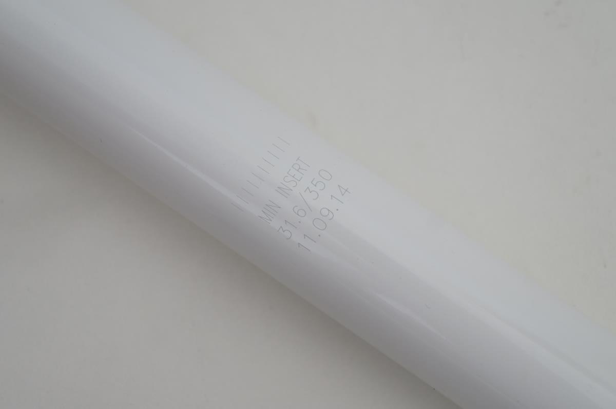 Canote Mtb Oval Concepts 200 31.6mm 350mm Aluminio Branco com Vermelho