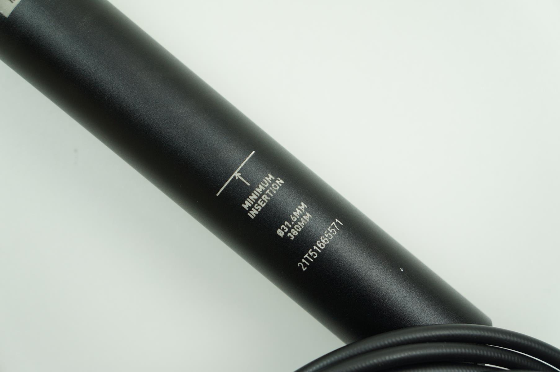 Canote MTB Rock Shox Reverb 31.6 x 380mm Telescópico Retrátil Preto - USADO