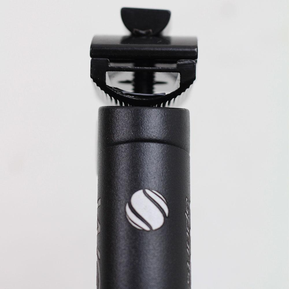 Canote para Selim Bicicleta com Carrinho 27.2 x 450mm WG Sports Preto Fosco