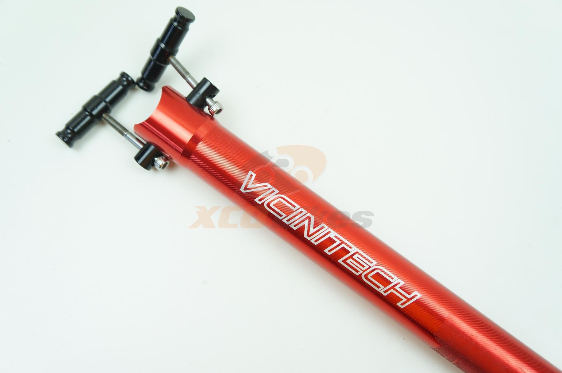 Canote Selim Vicinitech 31.6 400mm com Microajuste cor Vermelho com Blocagem