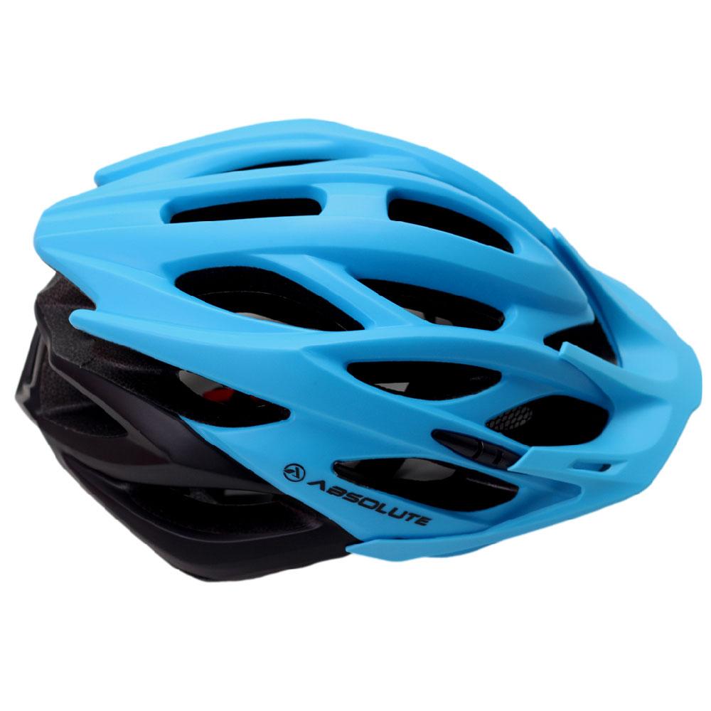 Capacete Bicicleta Absolute WILD Tamanho M/G 56-62cm Speed ou MTB com LED Sinalizador