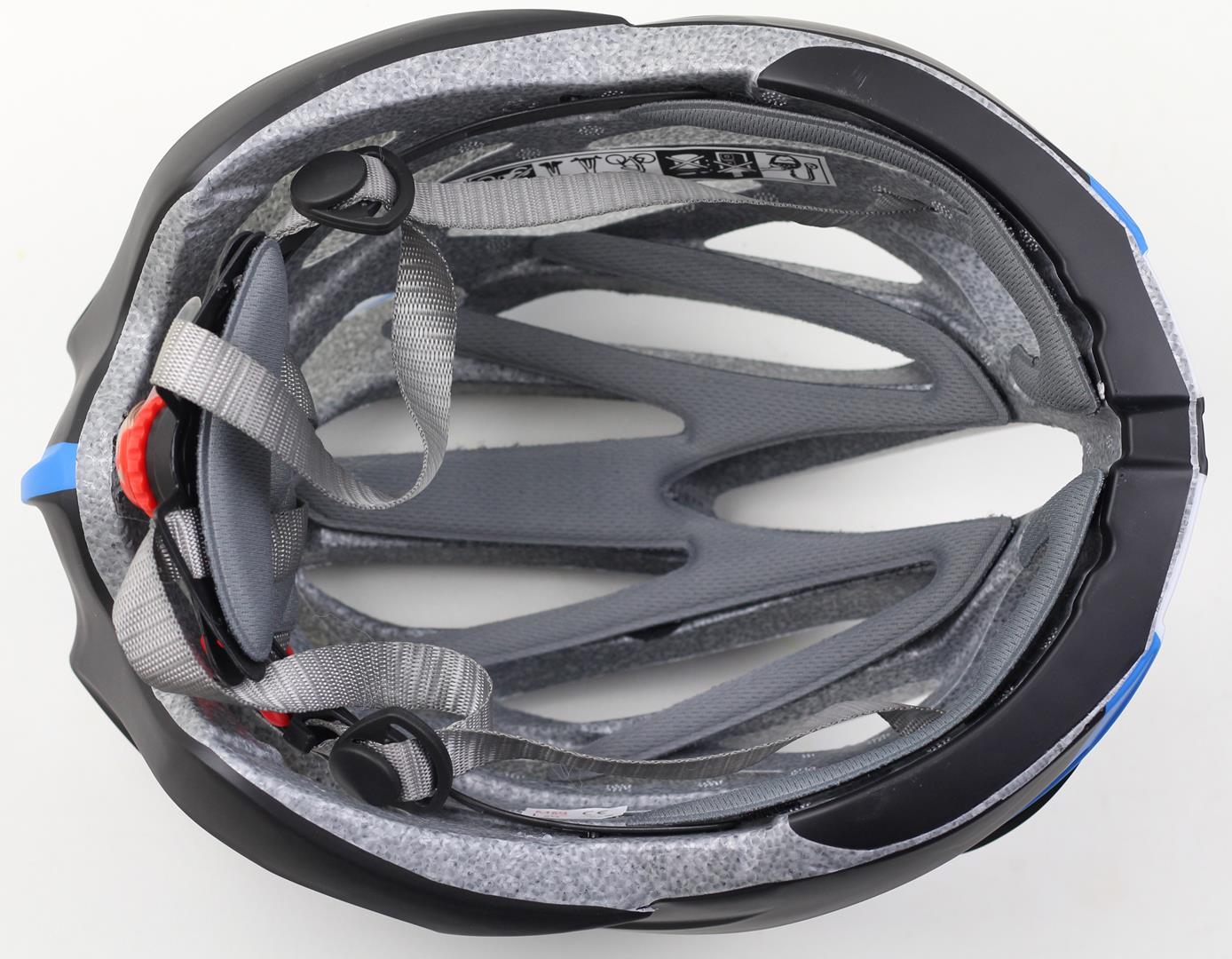 Capacete Bicicleta Argon TA-18 Tamanho G 57-62cm Speed ou MTB com LED Cor Preto com Azul