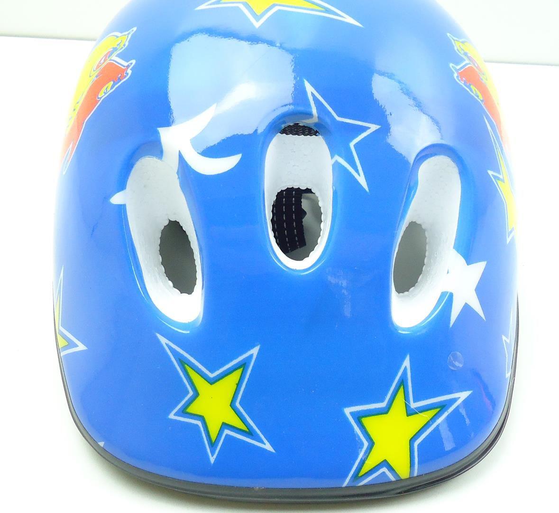 Capacete Bicicleta Infantil GTS Cor Azul Para Meninos 6 à 10 anos 52-56cm