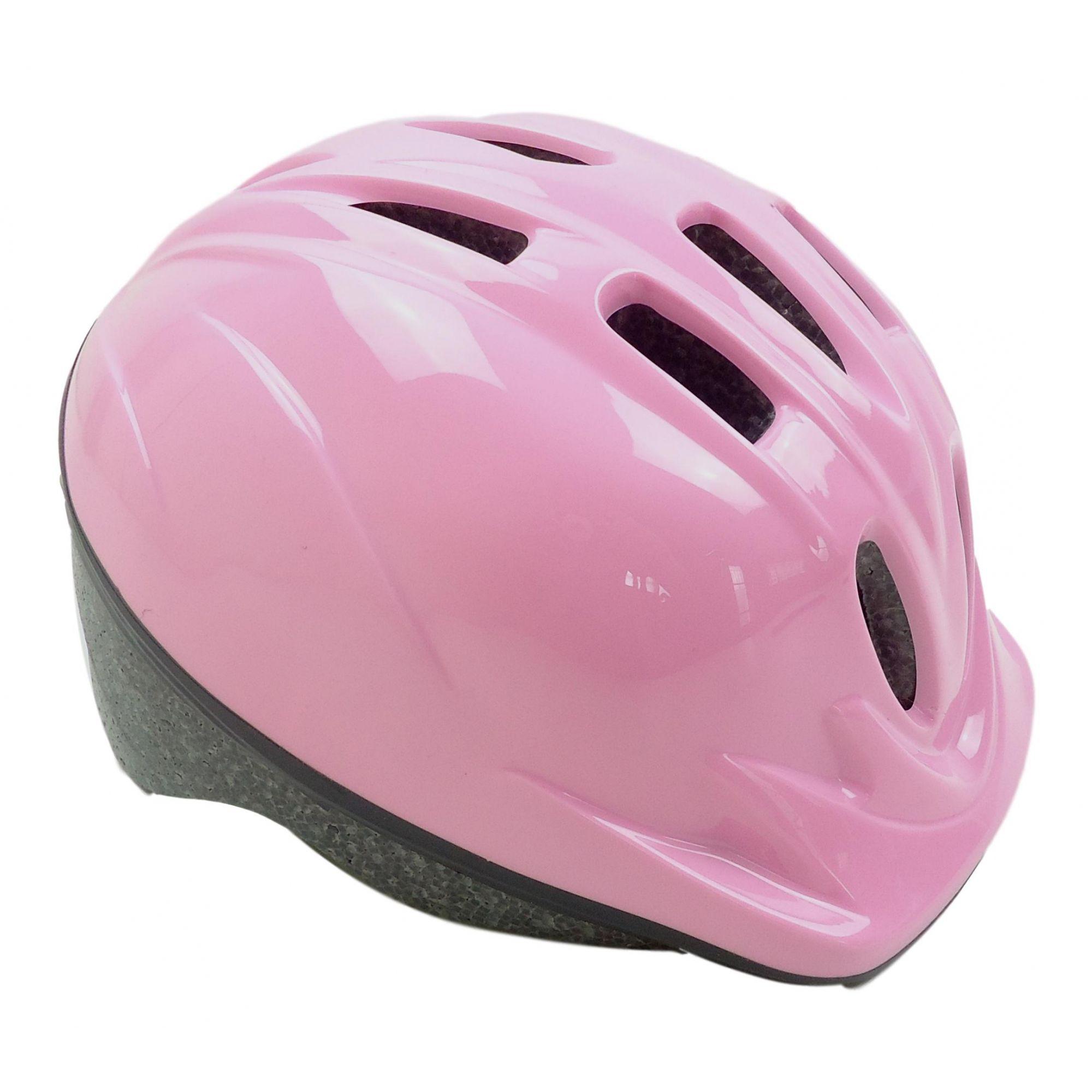 Capacete Bicicleta Infantil Kidzamo Cor Rosa Para Meninas 4 à 8 anos 48-52cm