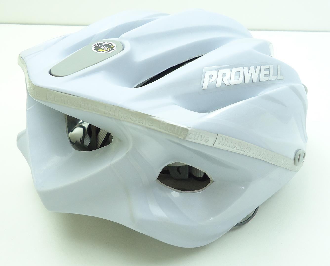 Capacete Bicicleta Prowell F4000 Hurricane Cor Branco Tamanho P Com Viseira