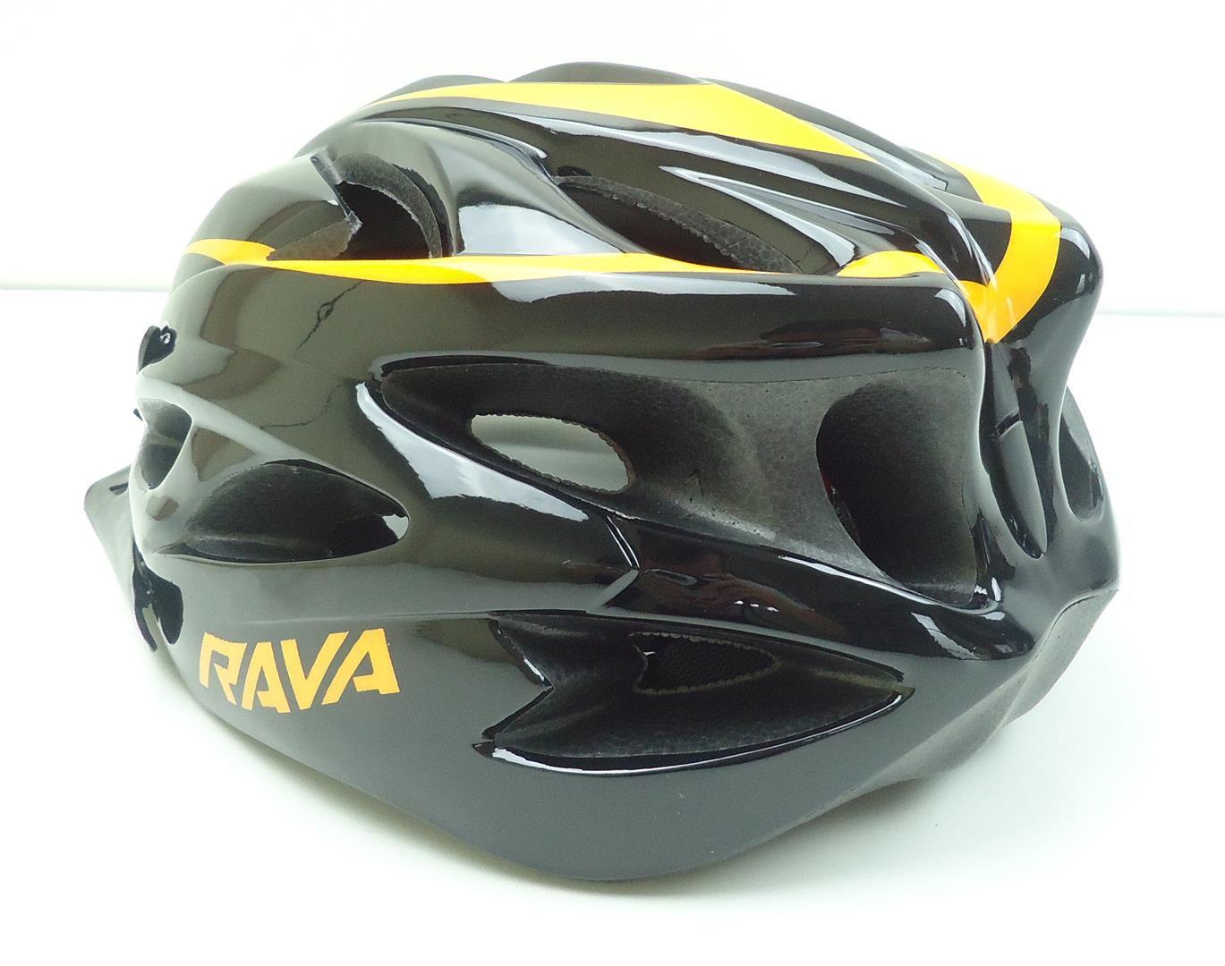 Capacete Bicicleta Rava Space Tamanho M ou G Com Viseira Amarelo e Laranja