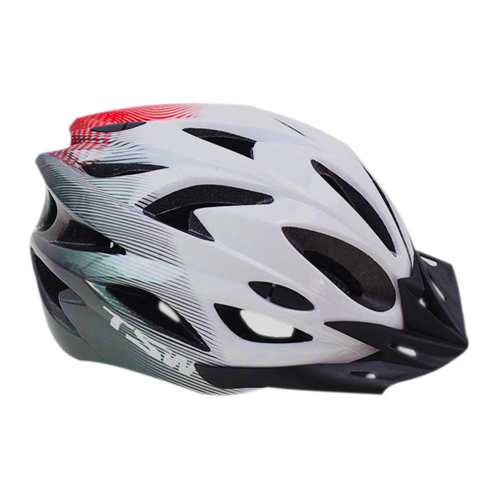 Capacete Bicicleta TSW Raptor M/G Speed ou MTB  Várias cores com LED Sinalizador